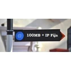 100MB + IP Pública Fija